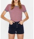 Koton Cep Detaylı T-Shirt Mor 9KAL11051OK349