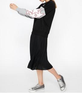 Koton Yazılı Baskılı Sweatshirt Siyah 9KAL16352OK03A