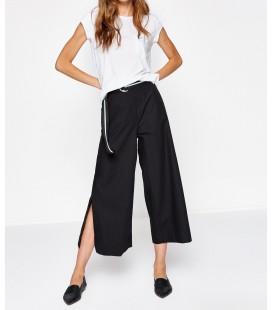 Koton Yırtmaç Detaylı Pantolon Siyah 8KAK42392UW999