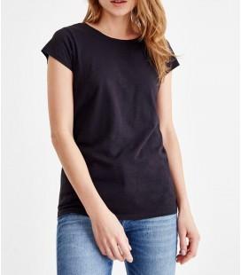 Oxxo Kadın Siyah Sıfır Yaka Basic Tişört MODYAKSIF18K