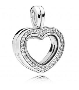 PANDORA Köpüklü Kalp Yüzen Madalyon Kolye Çekicilik 797248CZ