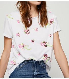 Koton Pul Detaylı T-Shirt Beyaz 8YAK13655QK001