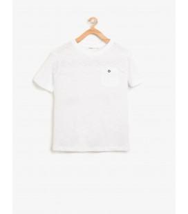 Koton Çocuk Kısa Kollu T-Shirt Beyaz 8YKB18858OK000