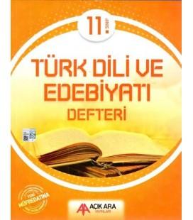 11. Sınıf Türk Dili ve Edebiyatı Defteri Açık Ara Yayınları