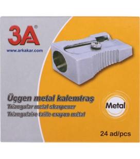 3A 211 Metal Kalemtıraş Üçgen 24'lü Paket