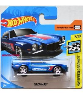 Hot Wheels - '70 Camaro Blue 2018 HW Speed Graphics  153/365 Model Araba Metal