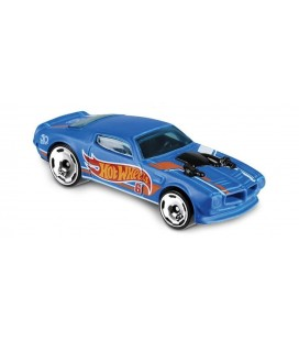 Hot Wheels - '70 Pontiac Firebird Blue 2018 HW 50 Race Team 288/365 Metal Model Araba