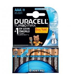Duracell Turbomax 8'li İnce Kalem Pil Aaa Karlar Ülkesi LR03 mx2400