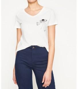 Koton Baskılı T-Shirt Beyaz 7YAL11649JK001