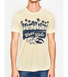 Koton Baskılı Erkek T-Shirt Sarı 7YAM11078CK151