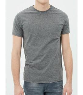 Koton Erkek Düz T-Shirt Antrasit 7YAM12136LK18A