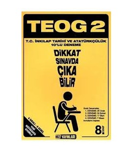 8. Sınıf TEOG 1 T.C. İnkılap Tarihi ve Atatürkçülük 10 Deneme Hız Yayınları