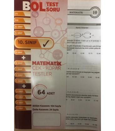 10. Sınıf Matematik Çek Kopar Test - Bol Test Soru