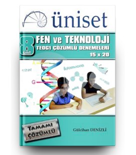 8. Sınıf TEOG 1 Fen ve Teknoloji Çözümlü 15x20 Üniset Yayınları