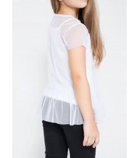 Defacto Tül Detaylı Baskılı T-shirt J6349A6