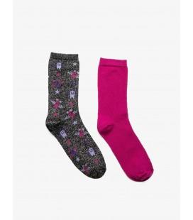 Koton Kadın 2'li Çorap Mor 9KAK81073AAU99