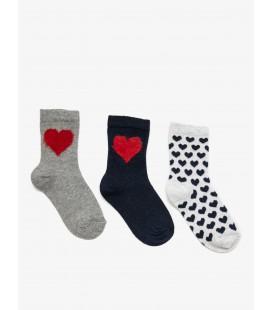 Koton Kız Çocuk 3'lü Çorap Gri 9KBG82237AA040