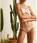 Oxxo  Pembe Parlak Detaylı Bikini OX-DARCI