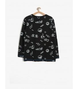 Koton Baskılı T-Shirt Siyah 7YKB16225TK01V