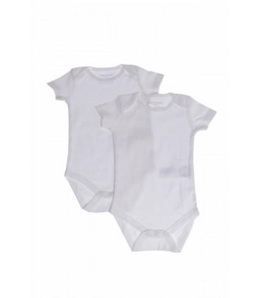 Defacto Beyaz Erkek Bebek Organik 2'Li Çıtçıtlı Body I5546A2