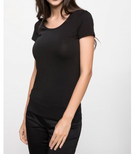 Defacto Kadın Yuvarlak Yaka Basic T-shirt J9840AZ