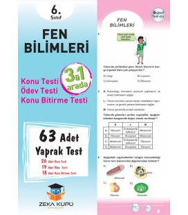 6.Sınıf Fen Bilimleri Yaprak Test