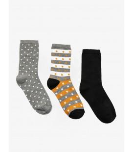 Koton 3'lü Kadın Çorap Gri 9KAK82034AA040
