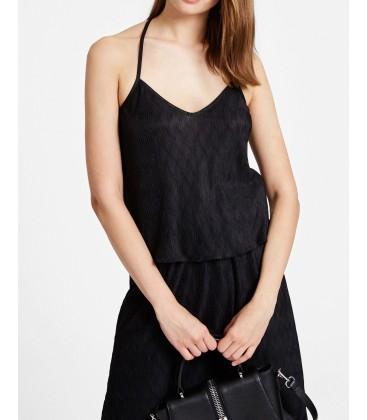 Oxxo  Siyah İnce Askılı Sırt Detaylı Bluz HOT-POLASLET