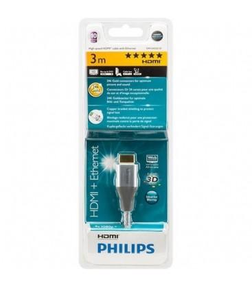 Philips SWV3433S 4K Gold HDMI Kablo ve Ethernet Kablosu 3m ENT