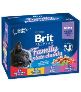 Brit Premium Kedi Maması Cat Family Plate Chunks 12x100g
