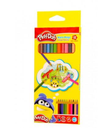 Play-Doh 12 Renk Kuru Boya Tam Boy PLAY-KU001