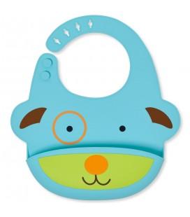 Zoo Fold & Go Silicone Bib - Dog Silikon Bebek Önlüğü 232203