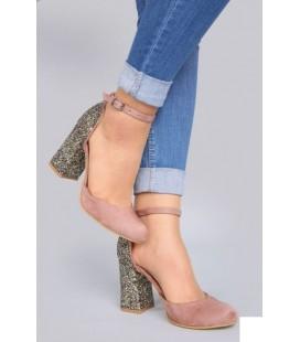 By Zeko Kadın Simli Topuklu Ayakkabı VGT08