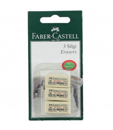 Faber Castell 3'lü Beyaz Silgi Seti