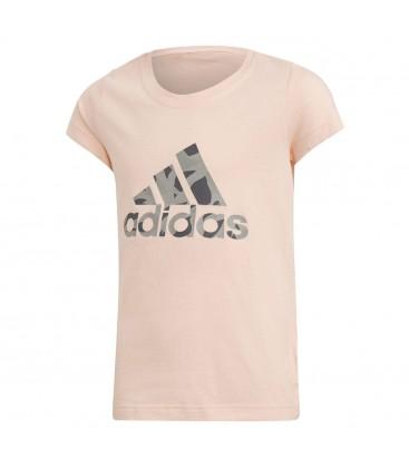 adidas Logo Pembe Çocuk Günlük Tişört DJ1325