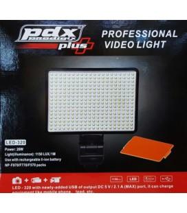 Pdx Led-320 Kamera Işığı, Kamera Tepe Lambası, Led Kamera Işığı, Sony Mc250 Işığı
