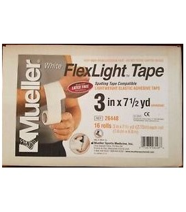 Mueller FlexLight Spatting Tape 3 inch x 7.5 Sargı Bezi 16 Rulo