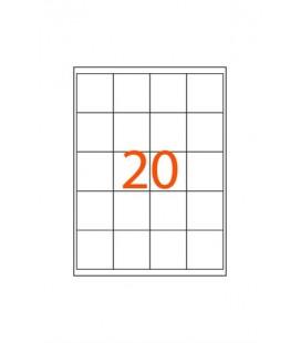 46x50 Lazer Sticker 20'li A4 100x20 - 2000 Adet