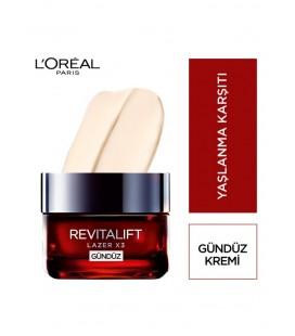 L'Oréal Paris Revitalift Lazer X3 Yoğun Yaşlanma Karşıtı Gündüz