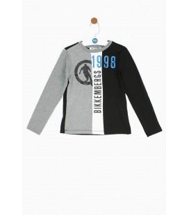 Bikkembergs Erkek Çocuk Siyah T-Shirt 18FWDJMTE52