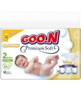 Goon Premium Soft 2 Numara Mini 34'lü Bebek Bezi
