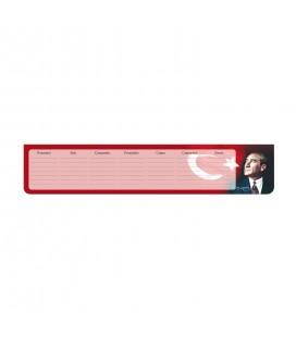 Keskin Color 830141-99 K.Color 7, 5 * 40 Klavye Önü Haftalık Blok-Atatürk Klavye Önü Planner Atatürk