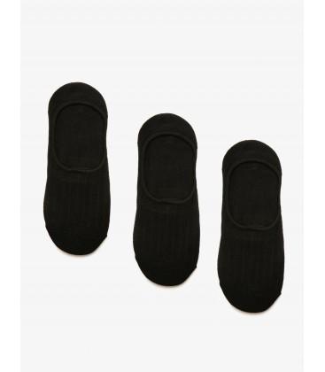 Koton Kadın 3'lü Çorap Siyah 8YAK85020AA999