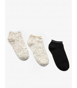 Koton 3'lü Kadın Çorap Ekru 9KAK81015AA002