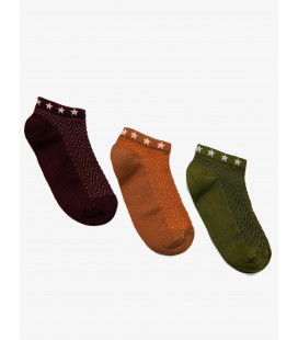 Koton 3'lü Kadın Çorap Haki 9KAK81013AA890