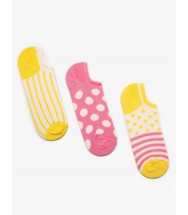Koton Desenli 3'lü Kadın Çorap Pembe 8YAK85083AA909