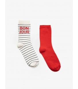 Koton Kadın 2'li Çorap Kırmızı 9KAK82166AA421