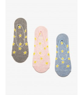 Koton Kadın 3'lü Çorap Mavi 8YAK85072AA600