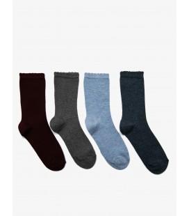 Koton 4'lü Kadın Çorap Bordo 9KAK81006AA491