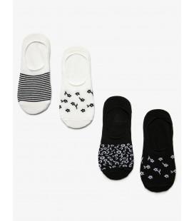 Koton Kadın 4'lü Çorap Siyah 9KAK81030AA999